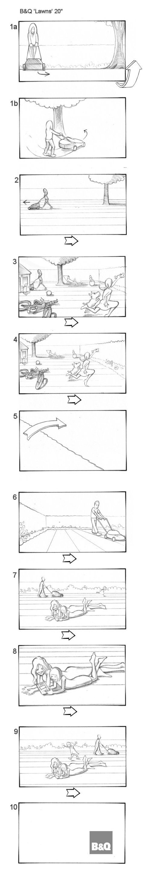 B&Q SUMMER CAMPAIGN STORYBOARDS BY ANDY SPARROW