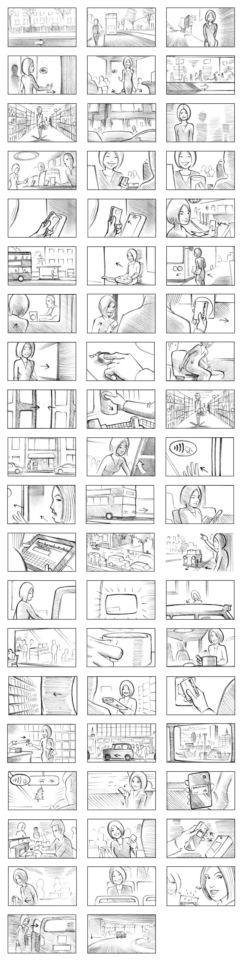 BARCLAYCARD STORYBOARD BY ANDY SPARROW