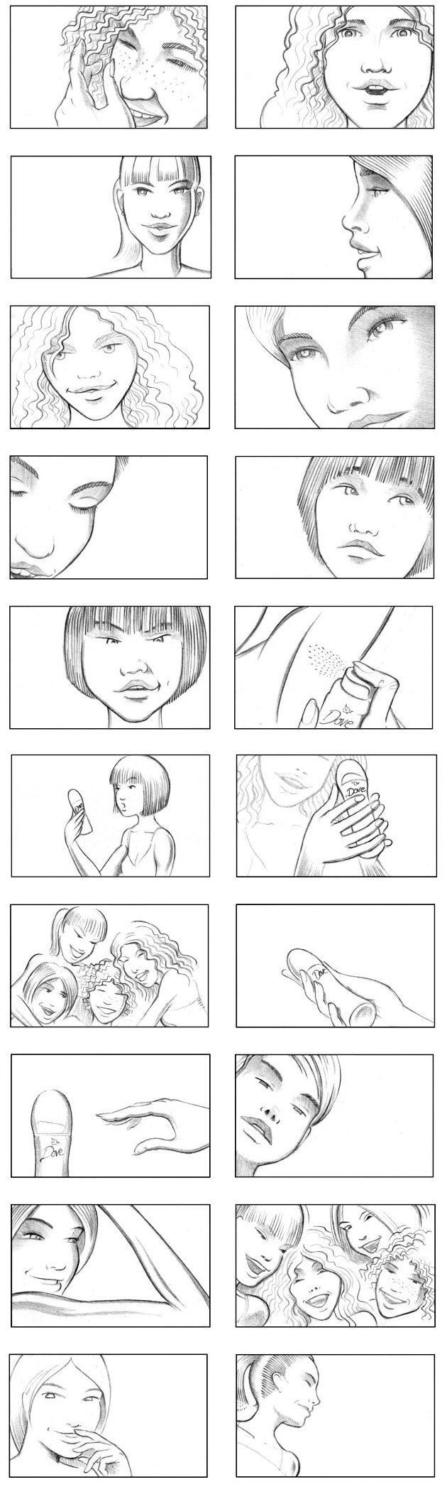 DOVE DEODORANT STORYBOARD BY ANDY SPARROW