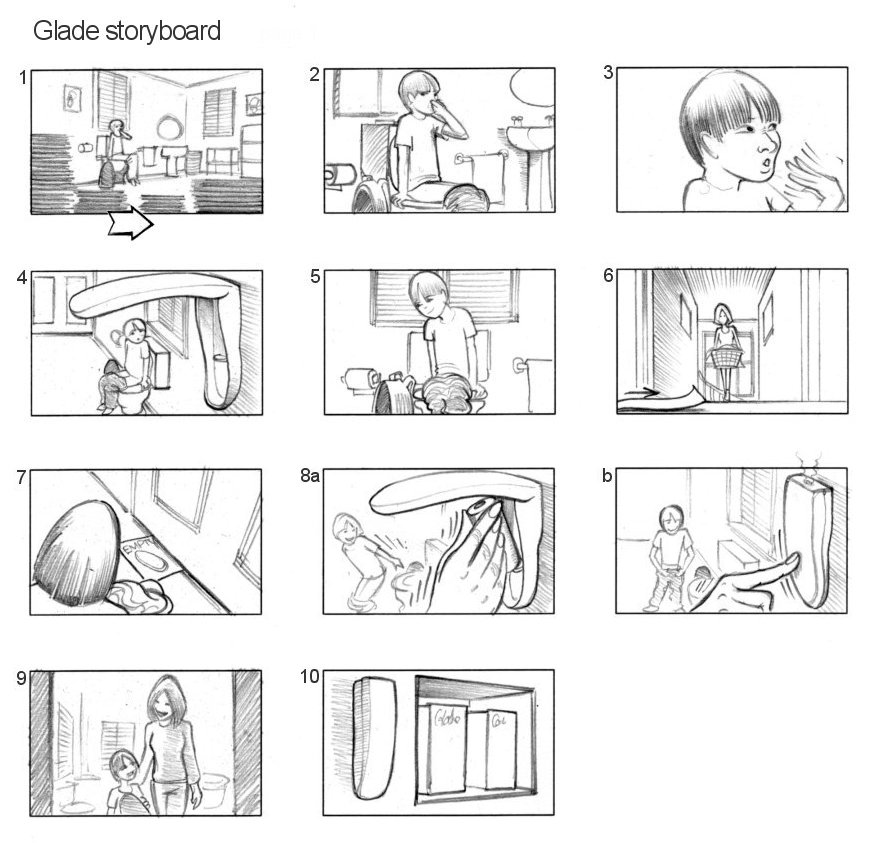 GLADE STORYBOARDS BY ANDY SPARROW