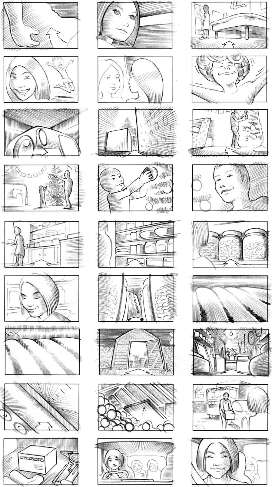 LITTLEWOODS STORYBOARD BY ANDY SPARROW