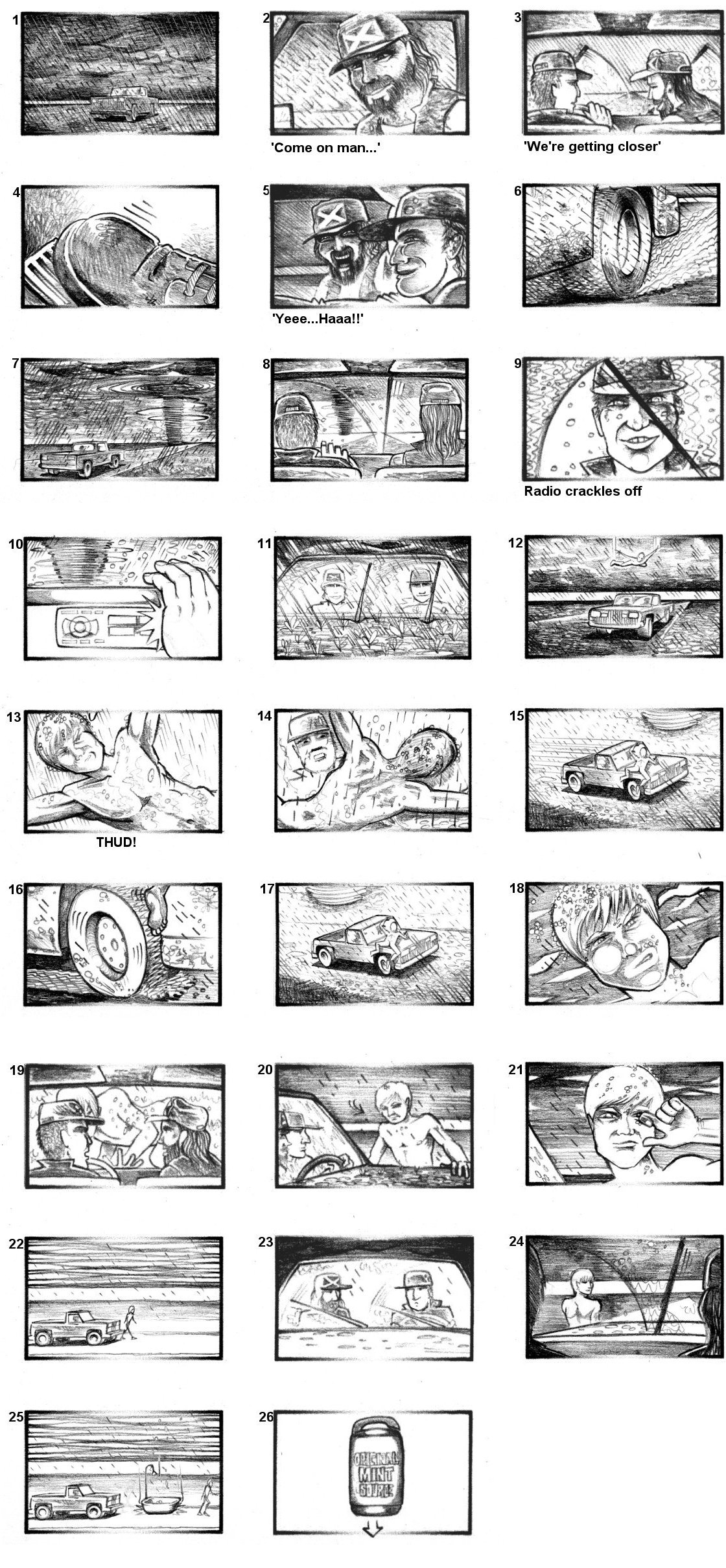 CUSSON'S MINT SOURCE STORYBOARDS BY ANDY SPARROW