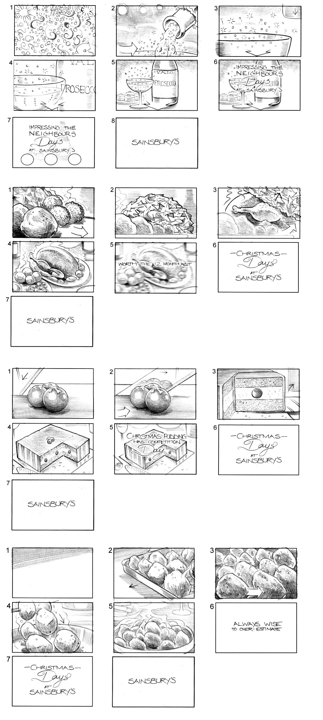 SAINSBURY'S STORYBOARD BY ANDY SPARROW