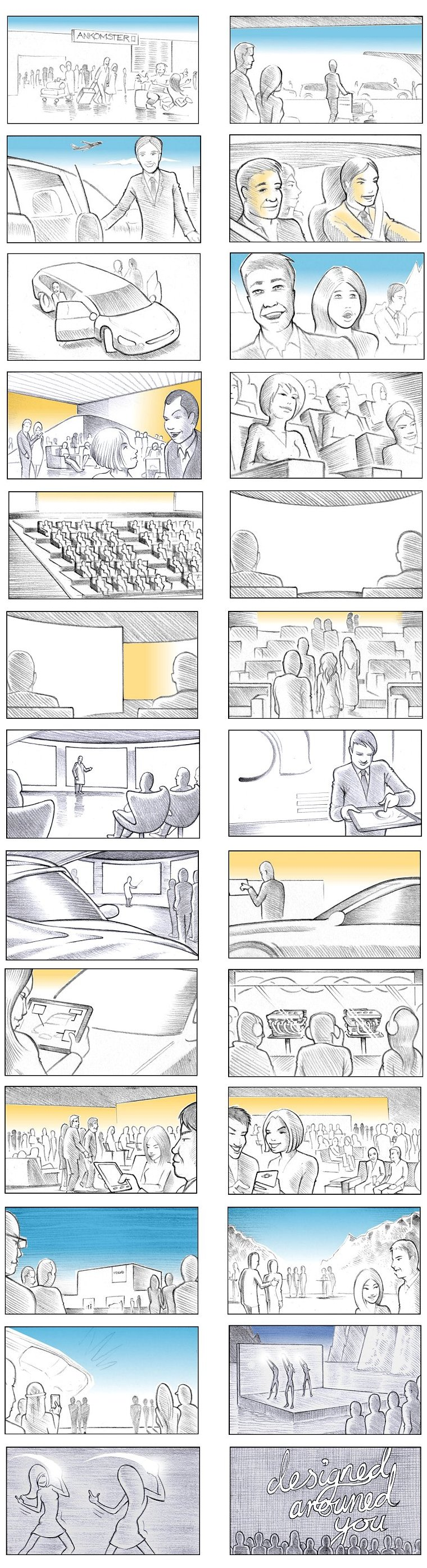 VOLVO EVENT STORYBOARD BY ANDY SPARROW