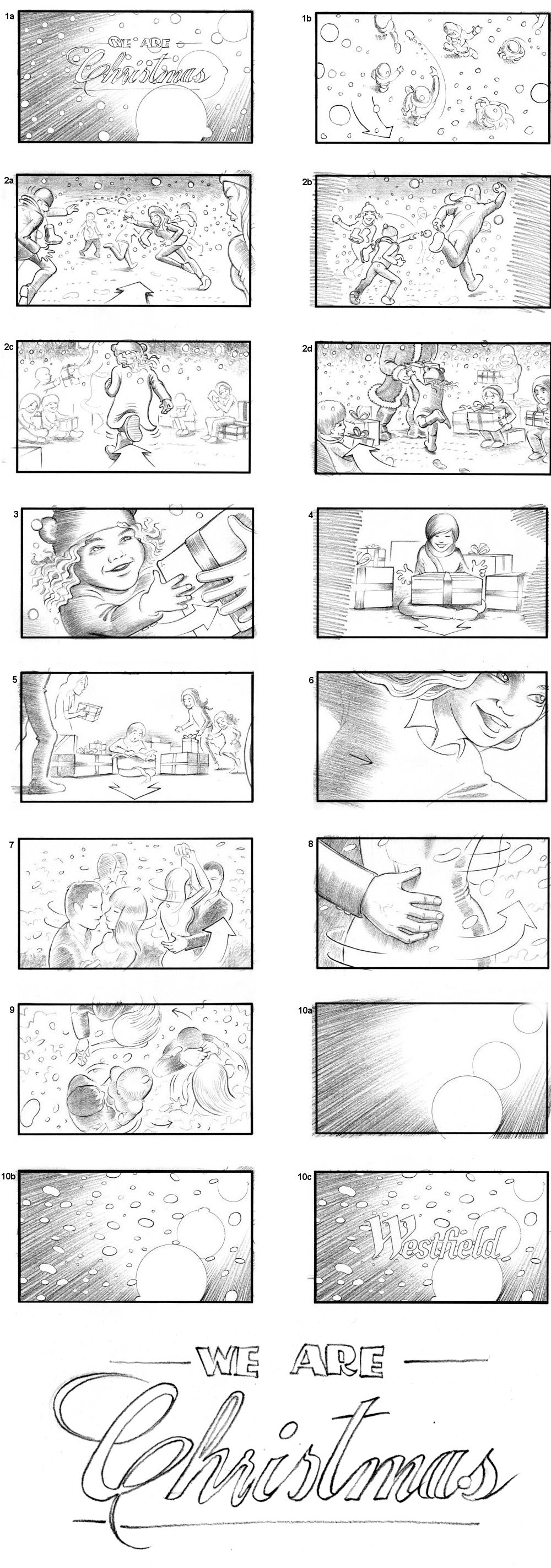 WESTFIELDS SHOPPING MALL STORYBOARD BY ANDY SPARROW