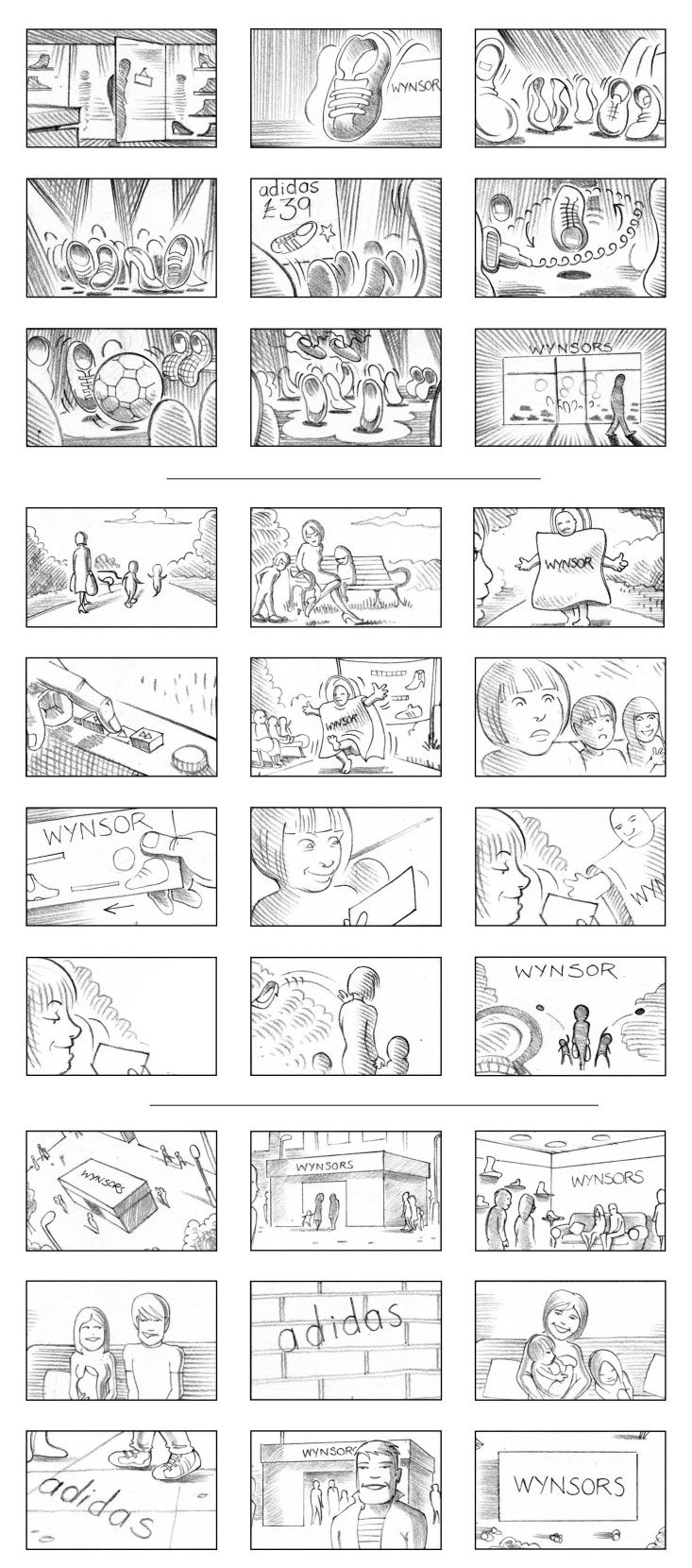 WYNSORS SHOES STORYBOARD BY ANDY SPARROW